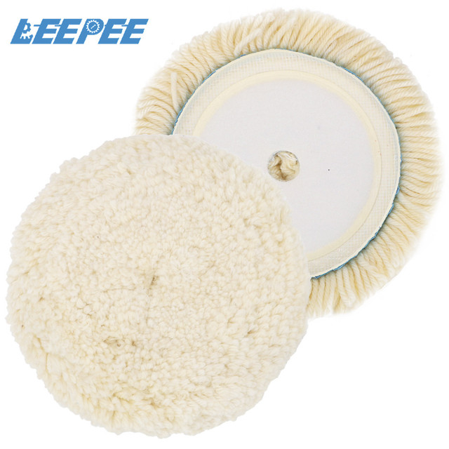 LEEPEE 6 Inch Wool Buffing Pad Car Detailing Buffer Polishing Pad Car Polisher Car Maintenance