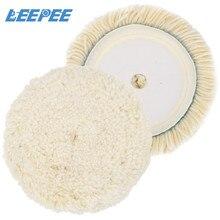 LEEPEE 6 pouces laine tampon de polissage voiture détaillant tampon tampon de polissage voiture polisseuse voiture entretien