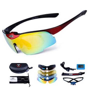 Spolaryzowane okulary rowerowe 5 soczewki Uv400 okulary rowerowe Outdoor Sports Running okulary przeciwsłoneczne okulary wędkarskie okulary męskie i damskie tanie i dobre opinie Polarized Lens 47mm SP0880 MULTI 146mm Poliwęglan Unisex Jazda na rowerze