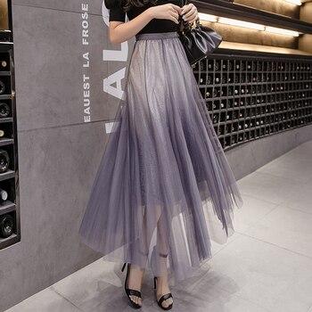 Blue Gray Skirt