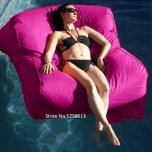 Розовый водный поплавок Кресло-мешок, мебель, двойное сиденье большой мальчик игры/театр/кино комната наружный бобовый мешок диван стулья