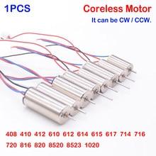 1 pces dc 3v-3.7v coreless motor 0408 412 610 612 614 617 720 816 820 8520 1020 alta velocidade forte magnético diy rc zangão quadcopter