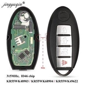 jingyuqin Smart Remote Key for NISSAN Altima Teana Maxima MURANO for Infiniti G25 G35 G37 Q60 FX35 FX37 QX70 FX50 315Mhz ID46(China)