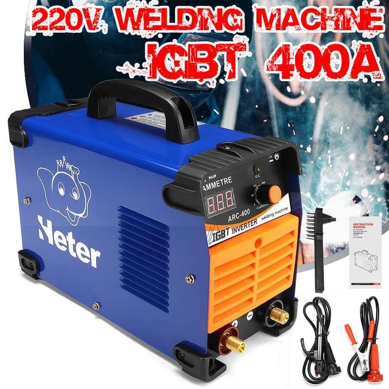 Hohe Effizienz DC Inverter ARC Schweißer 220V IGBT MMA Elektrische Schweißen Maschine 10-400Amp für Home Anfänger EU Stecker