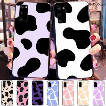 Black and white cow milk Soft Phone Cover For samsung galaxy S10 S10E Lite s8plus s9plus s7 s6 plus S5 S20 plus image