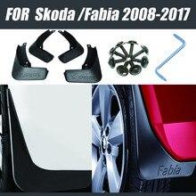 For Skoda Fabia Superb mud flaps  car fenders fabia mudguards Mud flap guards splash fender auto accessories styline 4 pcs