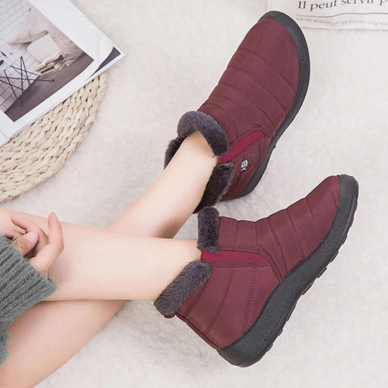 2019 femmes bottes d'hiver garder la neige chaude bottines pour femmes chaussures imperméables femme fourrure chaude femmes chaussures d'hiver botas mujer
