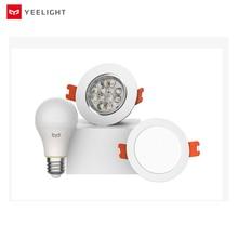 Yee светильник, bluetooth сетчатая версия, умный светильник, лампа и светильник, Точечный светильник, работает с yee, светильник gateway to mi home app