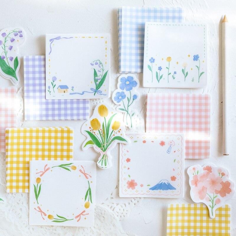 Journamm 30pcs/pack Flowers Plant Tulip Lattice Diy Deco Stickers Child Gift Scrapbooking Kawaii Decorative Stationery Stickers