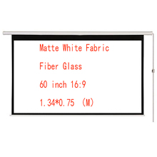 Thinyou 60 inch 16:9 Matte White Fabric Fiber Glass Electric Motorized HD Projector Screen with Remote Control Up Down For Home matte white soft fabric home theater 150inch 16 9 projection projector simple cinema screen with holes free shipping