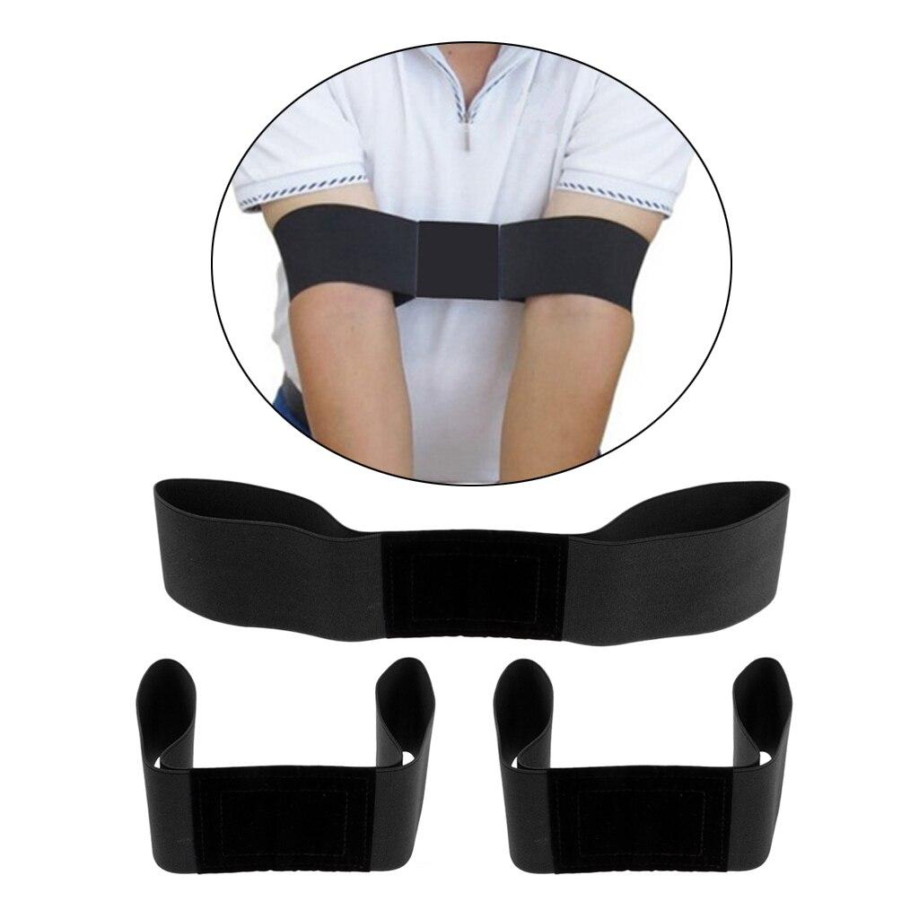 3 Pieces Unisex Golf Swing Training Aid Arm Band Wrist Corrector Adjustable Elastic Golf Swing Arm Band Golf Wrist Corrector
