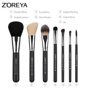 Image 4 - Zoreya makyaj fırçaları profesyonel toz dudak allık vakfı kirpik fırça seti göz farı kozmetik araçları