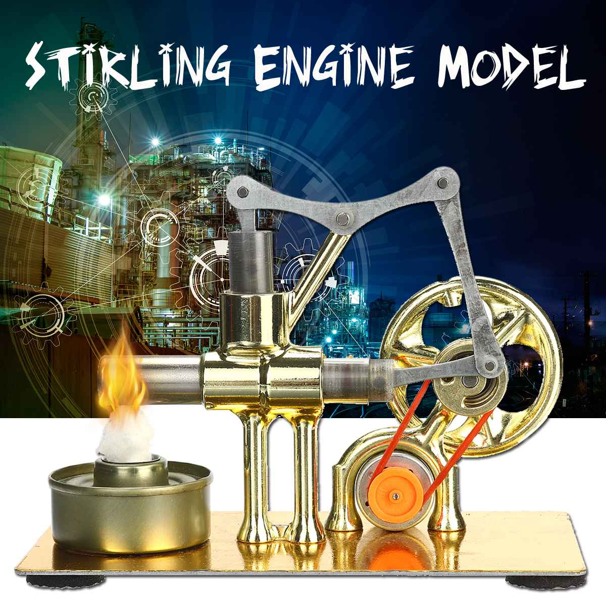 Mini Hot Air Stirling Engine Model Power Generator Motor Physics Educational Science Toy