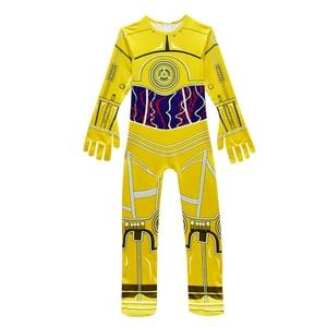 Image 2 - 子供衣装映画スターウォーズ衣装ロボット子供ハロウィーンの衣装子供のためのロボット男の子ヘッドギアカーニバル服