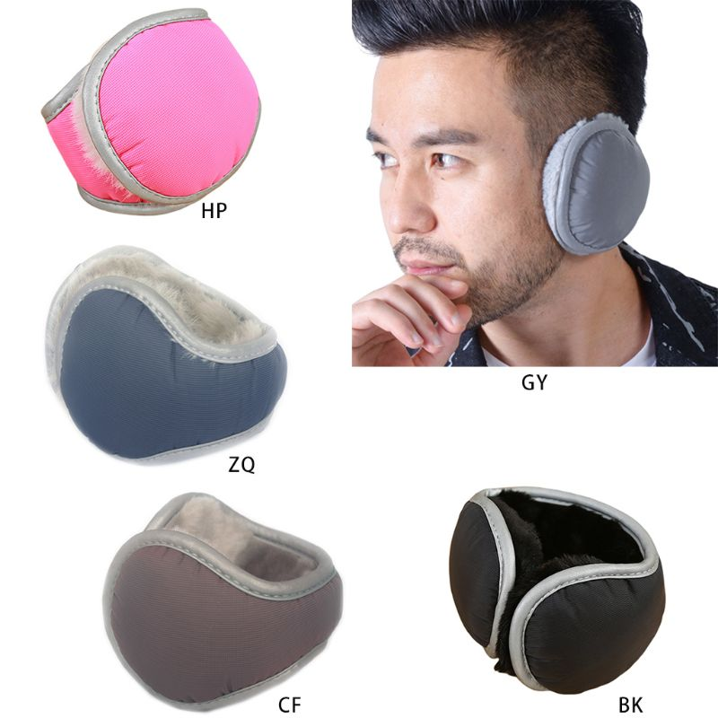 Unisex Winter Waterproof Adjustable Earmuffs With Reflective Strips Men Women Casual Soft Foldable Ear Warmer 5 Colors