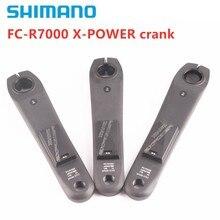 Shimano manivela esquerda 105 r7000, gps de manivela esquerda com xcadey X POWER recarregável com manivela 165mm 170mm 172.5mm suporte ant bluetooth