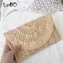Luxury Handbag Envelope-Bags Straw Knitted Crossbody Shoulder Vintage Beach New-Fashion