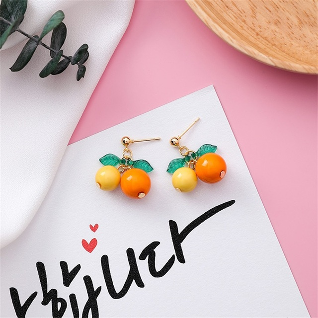 2020 Fashion New Sweet and Cute Cherry Earrings Creative Personality Red Fruit Cherry Pendant Earrings Temperament.jpg 640x640 - 2020 Fashion New Sweet and Cute Cherry Earrings Creative Personality Red Fruit Cherry Pendant Earrings Temperament Wild Jewelry