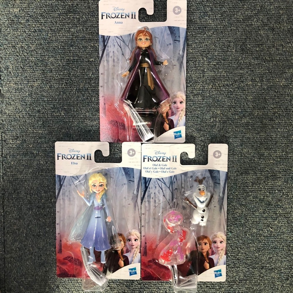 Hasbro Mini Princess <font><b>Frozen</b></font> <font><b>2</b></font> Alsa Anna Olaf Gale Doll Toys Action <font><b>Figure</b></font> Collections for Children Boy Girl image