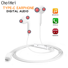 Type C Earphone with Microphone Wired USB C Digital Earbuds DAC In Ear USB C Headsets for Pixel 2 3 XL Samsung Huawei Xiaomi HTC