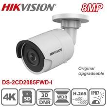 Hikvision original DS-2CD2085FWD-I 8mp 4k ultra hd poe h.265 rede bala câmera ip 3d dnr cctv