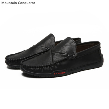 Mountain Conqueror Brand NEW Men Loafers Shoes Comfortable Flats Casual Shoes Men Breathable Slip-On Soft Leather Driving Shoes ubfen 2017 new fashion casual shoes for men comfortable and soft male loafers high quality slip on flats driving shoes