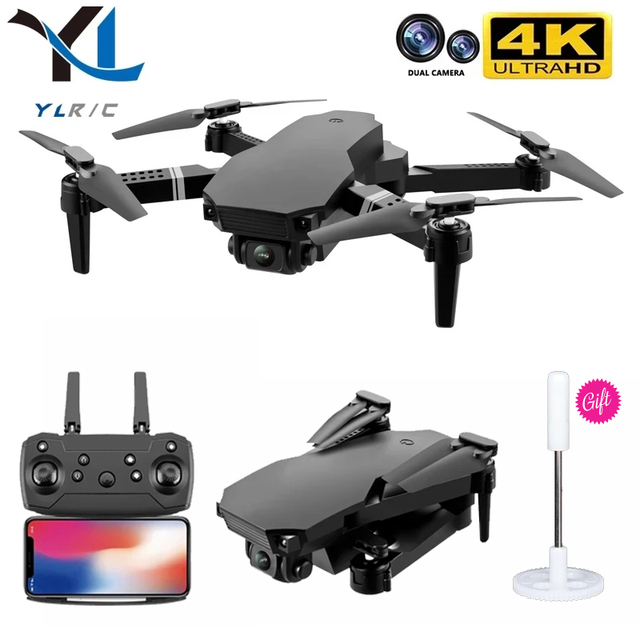 New 2021 S70 drone 4K HD dual camera foldable height keeping drone WiFi FPV 1080p real-time transmission RC Quadcopter toy 1