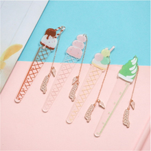1 Pcs  Cute Pendant  Sweety Acrylic Bookmark Ruler Book Page Holder Stationery 500a page 1