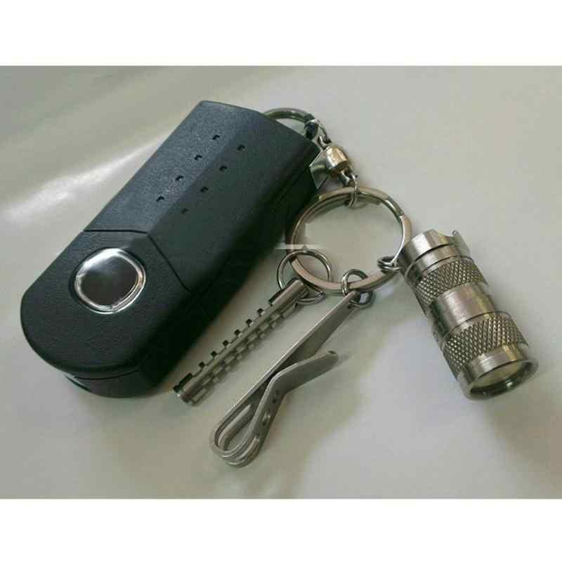 1มินิแบบพกพาพ็อกเก็ตคลิปแขวนกระเป๋าEDC Outdoor Campingสแตนเลสสตีลเครื่องมือMulti-Function Key Chainคลิปผู้ถือ