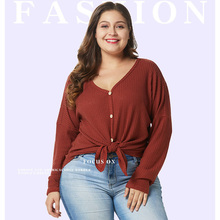 2019 Fashion Autumn Winter Women Solid Loose Top Tees Casual Button Long Sleeve Female Plus Size O Neck T Shirts