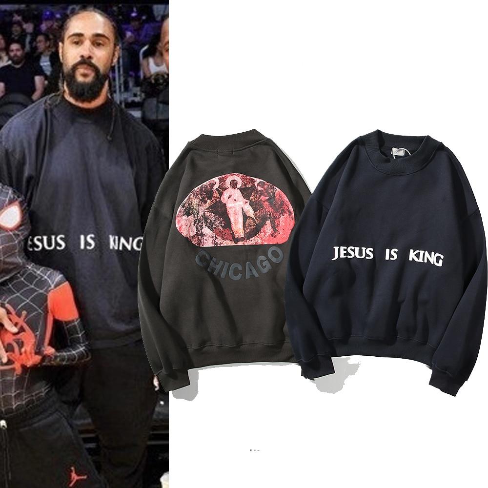 Jesus Is King Man Fleece  Streetwear Kendall Jenner Sweatshirt  1