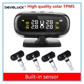 TPMS tire pressure monitoring system High-precision solar Intelligent temperature warning display USB output tpms with 4 sensors 10x 10 x lm35 lm35dz precision centigrade temperature sensors page 5