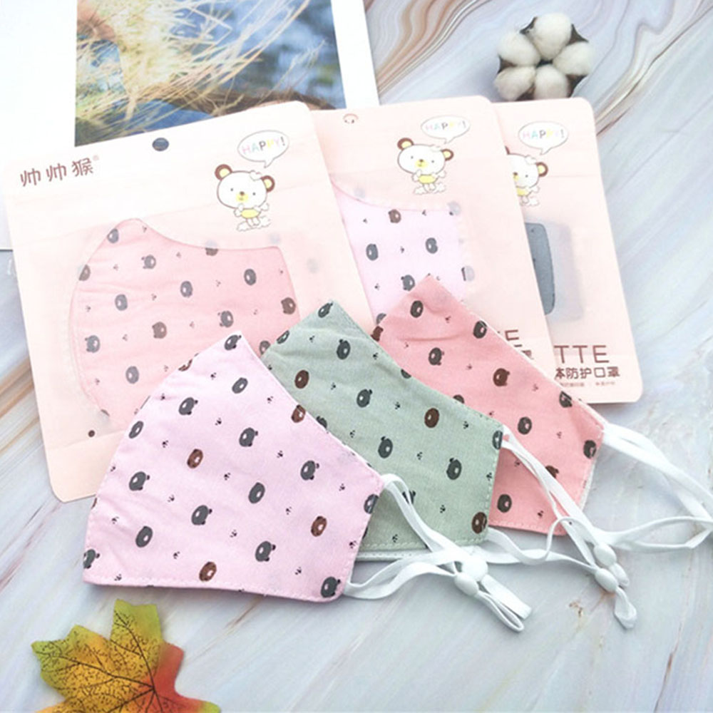 Children's Cartoon Print Masks Dustproof Windproof Breathable Anti-fog Haze Safe Use Mouth Mask Face Cover Health Care
