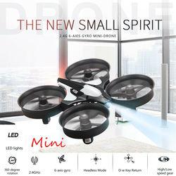 Mini Drone 2.4G Brica H36 6-Axis Gyro 360 ° Turn Over Pesawat Salah Satu Kunci Kembali Mini Quadcopter RC Drone Hadiah Mainan Anak