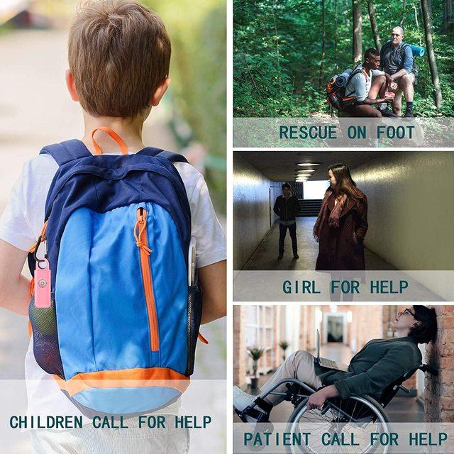The Original Safety Alarm Self Defense Siren-Portable  for Women w/SOS LED Light & Carabiner Helps Elders & Kids Emergency Call 2