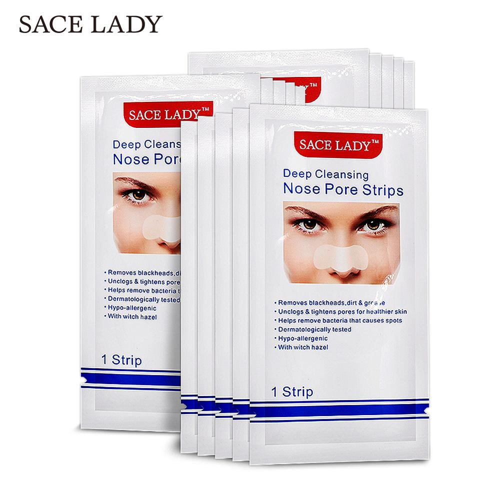 SACE LADY Blackhead Remover Nose Mask 24 Pcs Deep Cleansing Purifying Peel Off Nasal Strips Facial Pores Sticker Face Skin Care