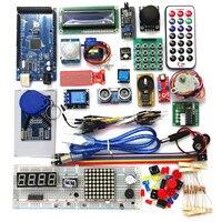 Kit de iniciación para arduino mega 2560 r3, servo RFID, relé de rango ultrasónico LCD