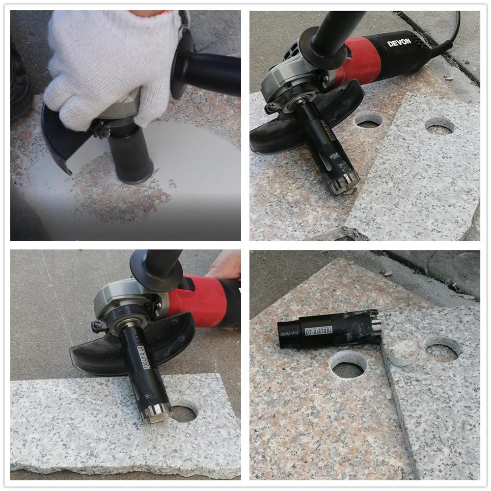 Купить с кэшбэком DT-DIATOOL 1pc Laser Welded Turbo Segments Dry Diamond Hole Saw Dry Drilling Core Bits M14 or 5/8-11 Thread for Granite Marble