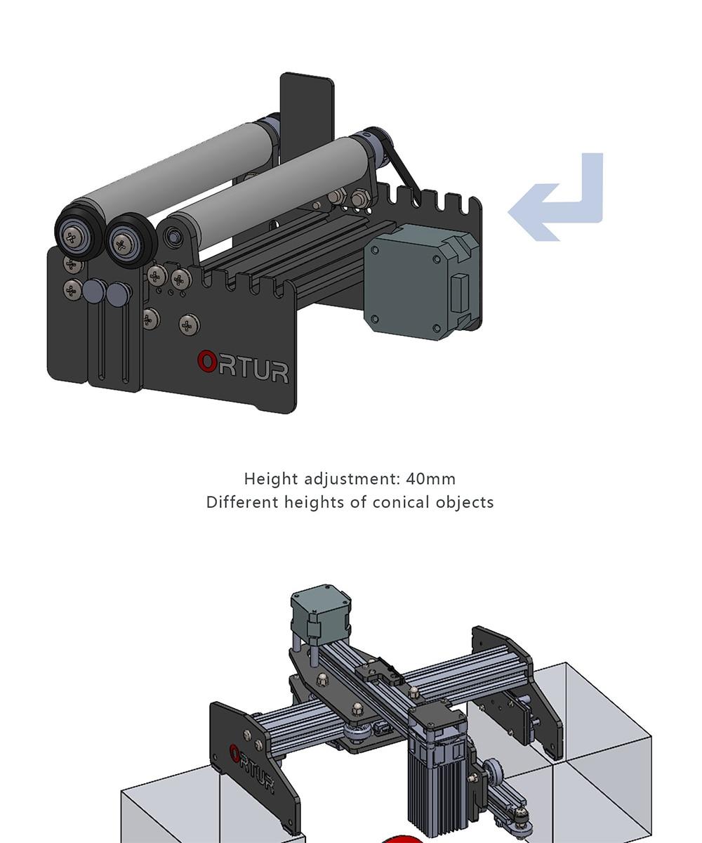 a y aixs rolo rotativo para garrafas redondas gravador