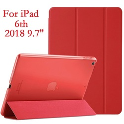 Slim Folio Stand Coque for iPad 2018 9.7 iPad 6th Case Magnetic Smart Auto-Sleep PVC A1893 A1954 Cover for iPad 6 2018 9.7 Cover