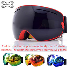 Ski Goggles, Snowboard Glasses Double Layers Anti-fog UV400 Lens Big Mask Men Women Winter Snow Snowmobile Gafas Skiing Eyewear все цены