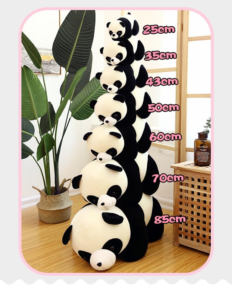 Crianças bonito animais de pelúcia boneca panda