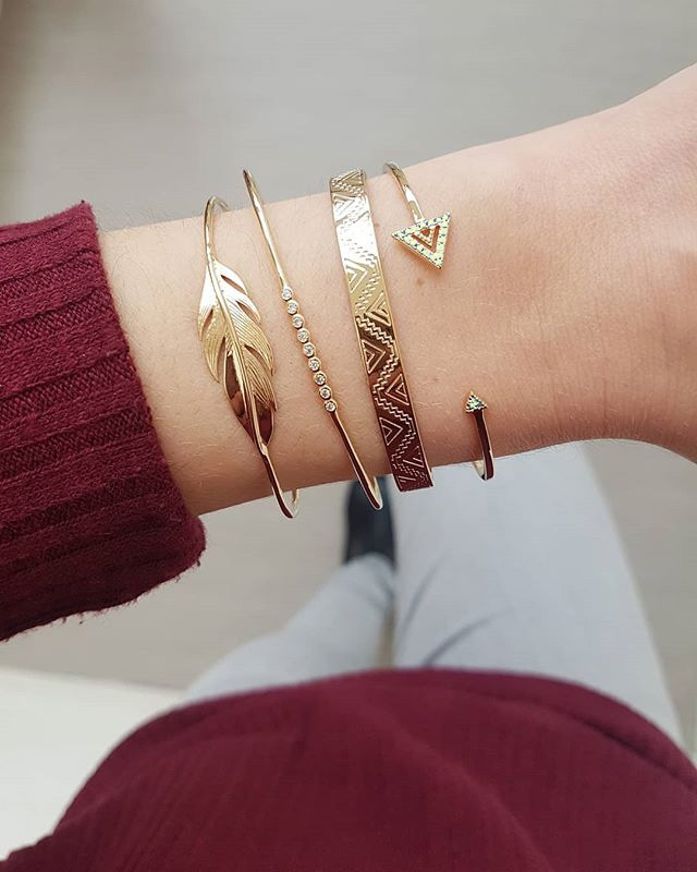 Bohemian Gold Geometric Chain Bracelet Set With Alloy Crystal For Women Classic Crystal Gold Bracelet Jewelry Wholesale