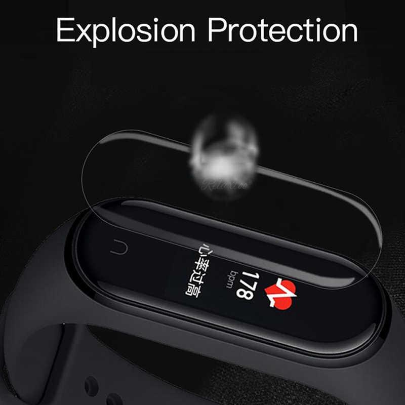 15PCS สำหรับ Xiaomi Mi 4 ป้องกันหน้าจอ Xiaomi Mi Miband 4 สมาร์ท Miband4 สร้อยข้อมือไม่กระจกนิรภัย