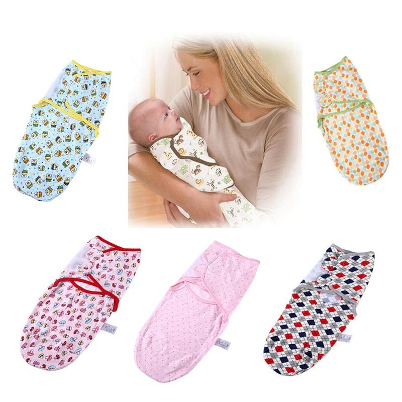Baby Sleeping Bag Newborn Cocoon Swaddle Wrap Envelope 90%Cotton 0-24Months Baby Blanket Soft Stretchable Sleepsack