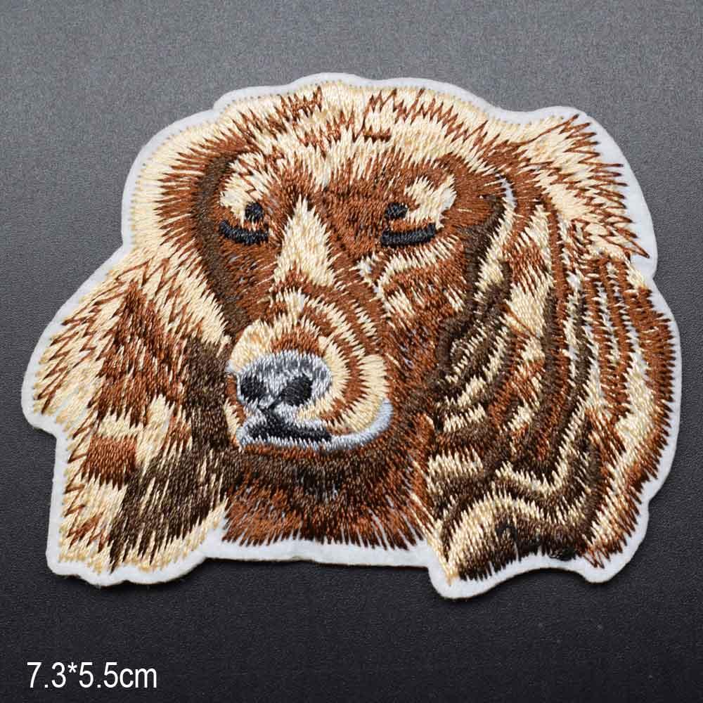 Пятнистая собака полная вышивка Железная на вышитой одежде нашивки для одежды наклейки одежды торговля - Цвет: miyan gou