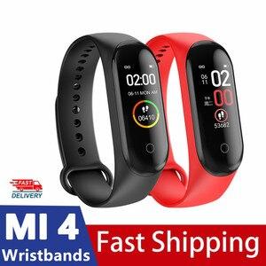 Smart Watch Bracelet Pedometer Fitness Tracker Blood Pressure Monitor Sport M4 Waterproof Smart Watch Smart Electronics
