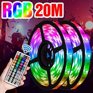 5050 LED Strips 5M 10M 15M 20M RGB Light Strip 12V LED Flexible Ribbon Waterproof RGB LED Lights For TV Background Decoration