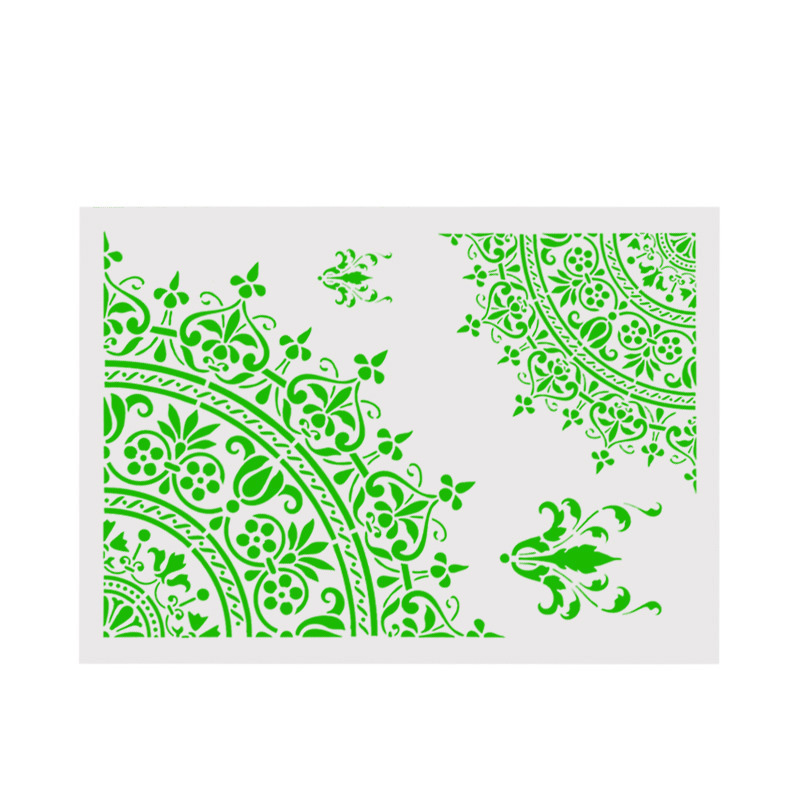 Creative Irregular PVC Stencils For Walls Painting Scrapbooking Cute Gift Stamp Photo Album Decor Embossing Paper Cards Craft