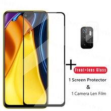 2.5d proteção de vidro para xiaomi poco m3 pro protetor de tela para xiaomi poco m3 pro vidro temperado filme do telefone para poco m3 pro